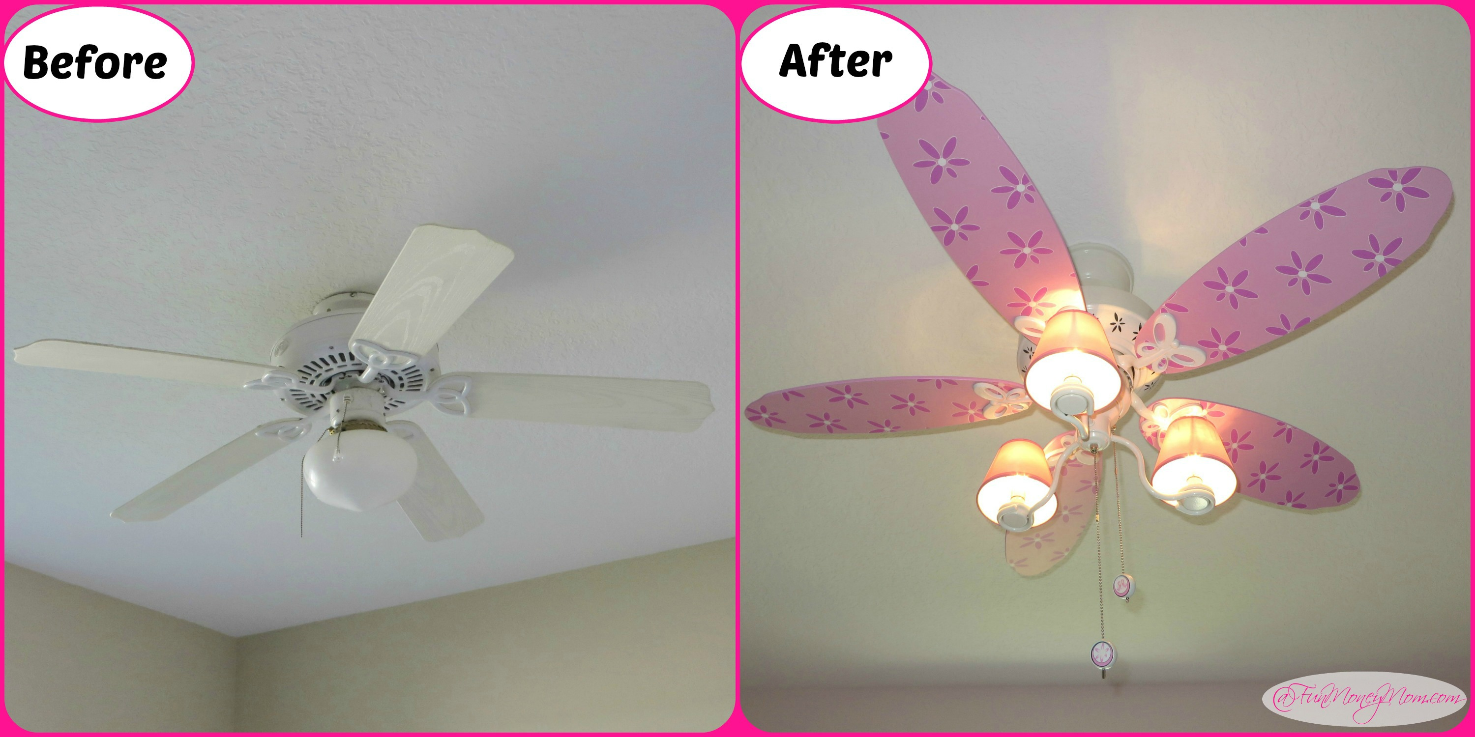 tasty regarding for kids pink room ceiling with fans fan low and design l lighting light home