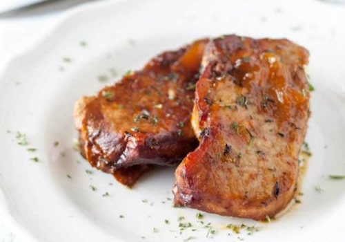 slow cooker pork chops with peach glaze