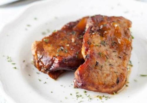 slow cooker pork chops with peach glaze