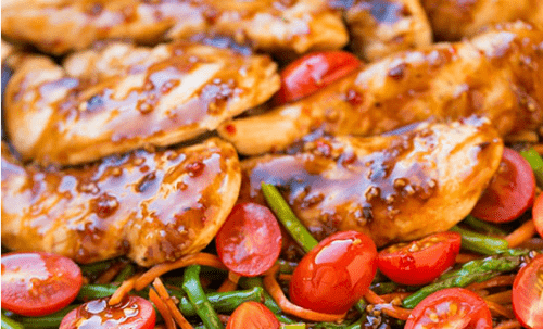 balsamic slow cooker chicken with veggies