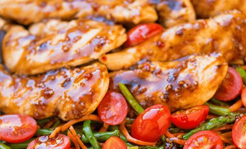 balsamic slow cooker chicken with veggies