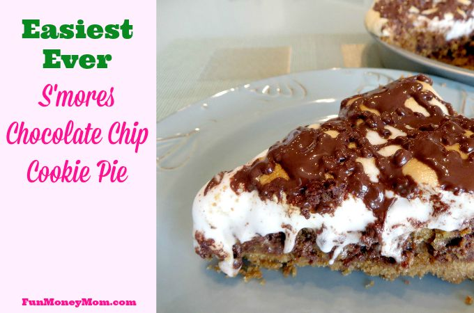 Easiest Ever S'mores Chocolate Chip Cookie Pie
