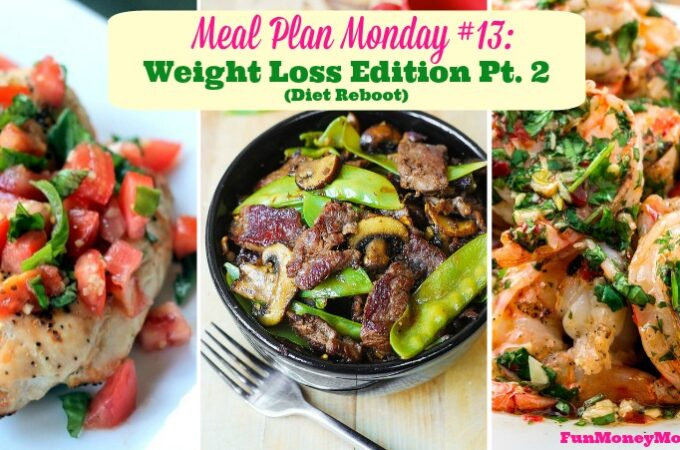 Meal Plan Monday #13: Weight Loss Edition Pt. 2 (Diet Reboot)
