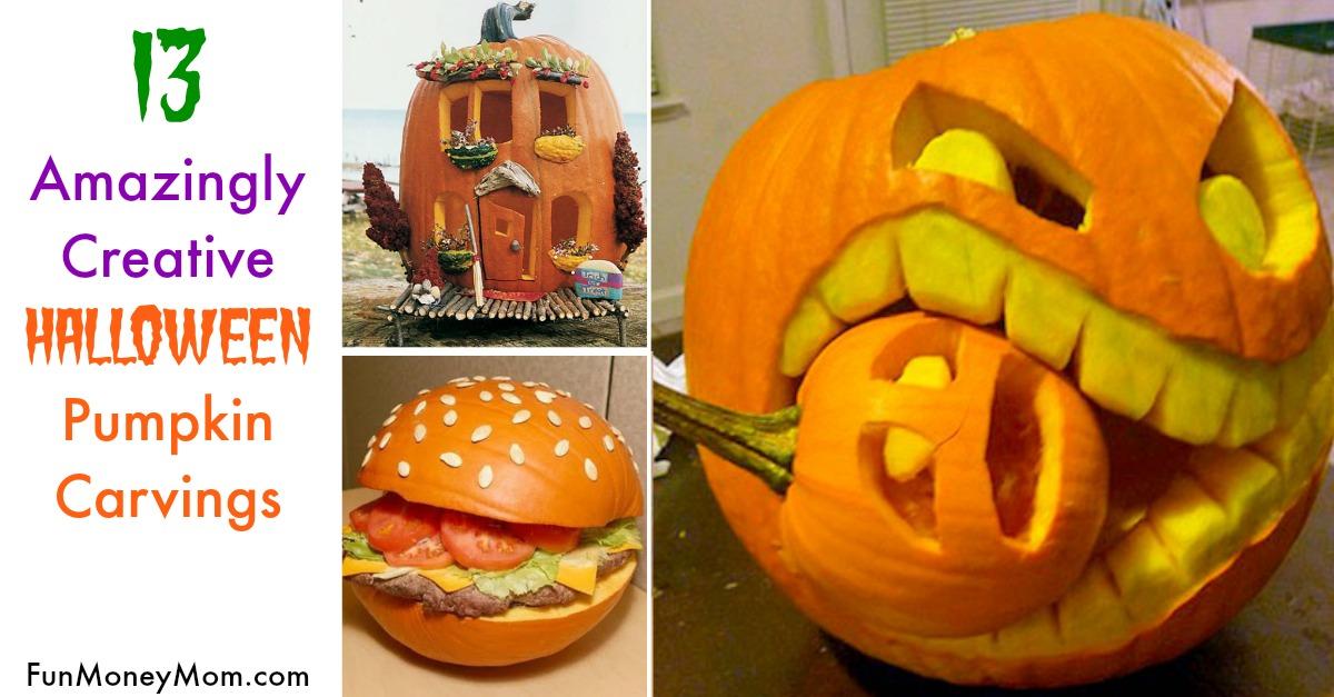13 Amazingly Cool Pumpkin Carvings Fun Money Mom