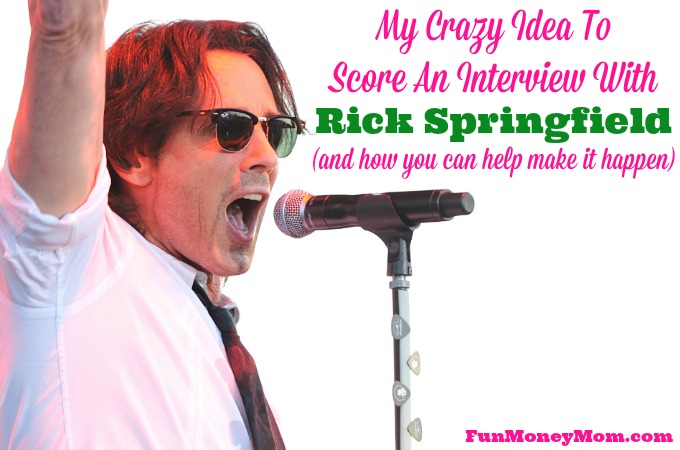 My Crazy Idea To Score An Interview With Rick Springfield (and how you can help make it happen)