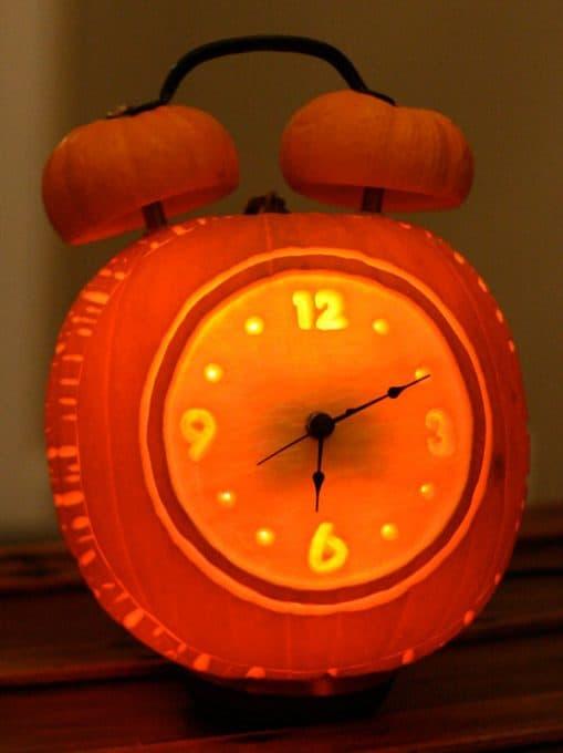 Pumpkin Alarm Clock