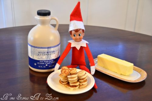 Elf On The Shelf Ideas - Making pancakes