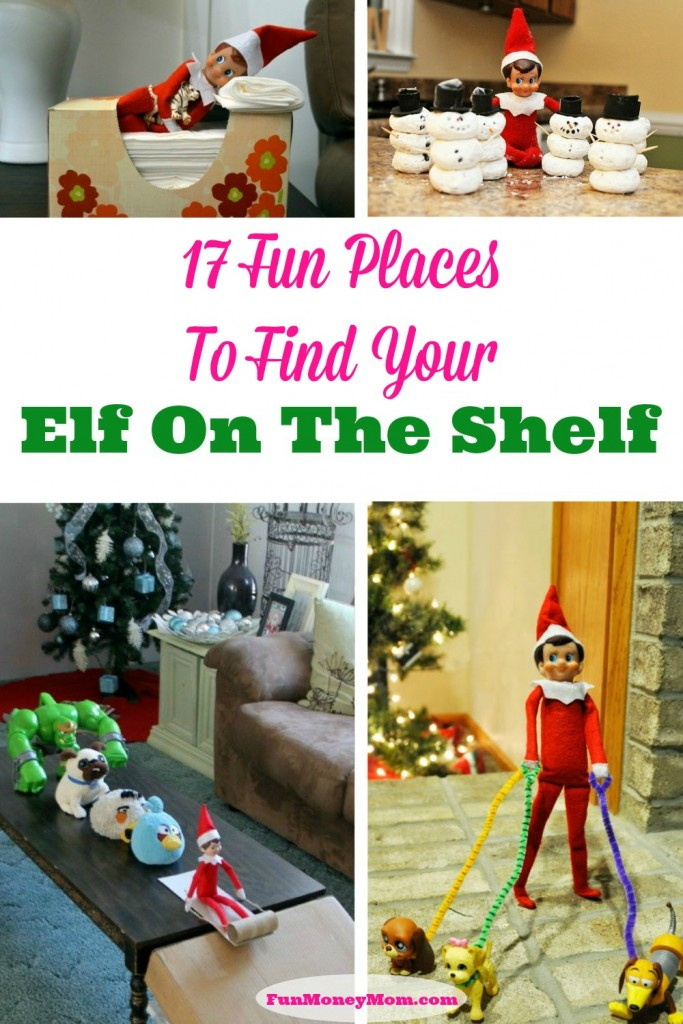 That silly Elf!  Check out all the crazy places he's been showing up!
