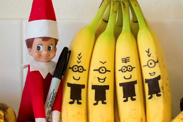 Elf On The Shelf Ideas - Minion friends