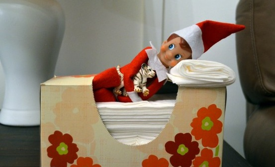 Elf On The Shelf Ideas - Sleepy Elf