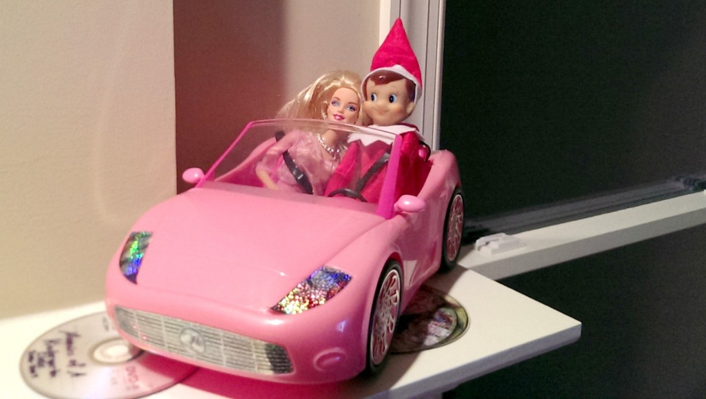 Elf On The Shelf Ideas - Barbie Car