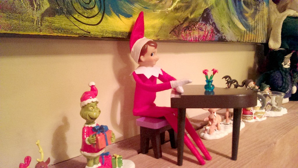 Elf On The Shelf Ideas - Piano Man