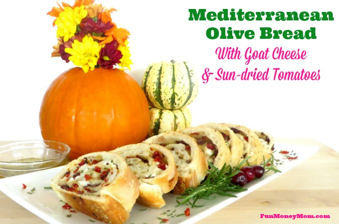 Mediterranean Olive Bread With Goat Cheese & Sun-dried Tomatoes