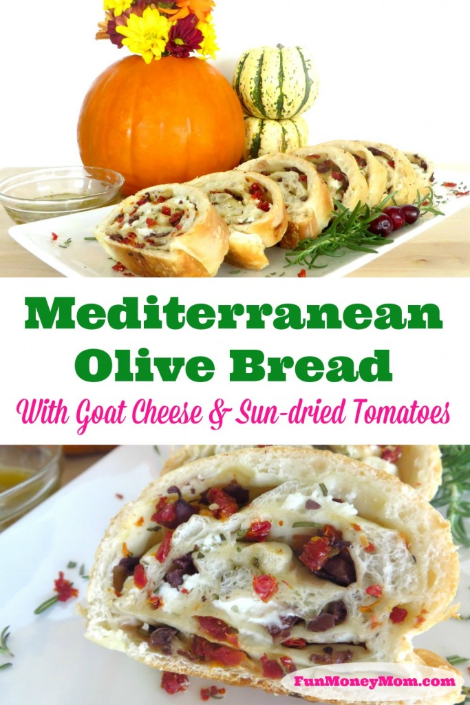 Mediterranean Olive Bread With Goat Cheese & Sun-dried Tomatoes - Fun ...
