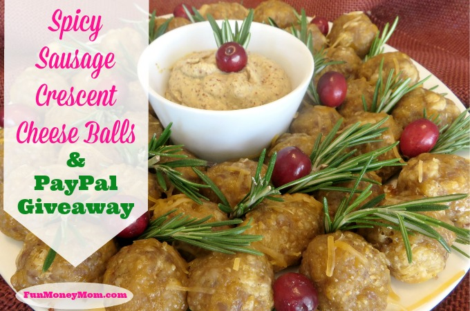 Spicy Sausage Crescent Cheese Balls & PayPal Giveaway