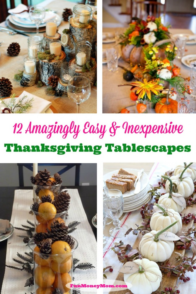 You can create beautiful Thanksgiving tablescape that doesn't have to break the bank!
