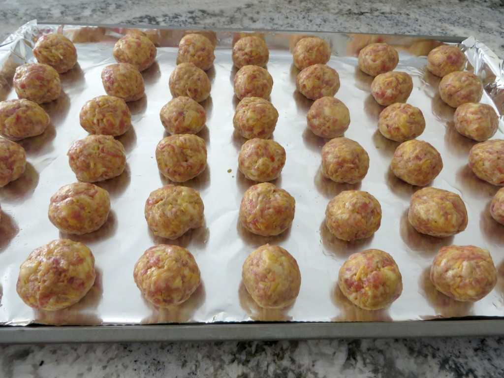 Voila…now your delicious sausage crescent cheese balls are ready to ...