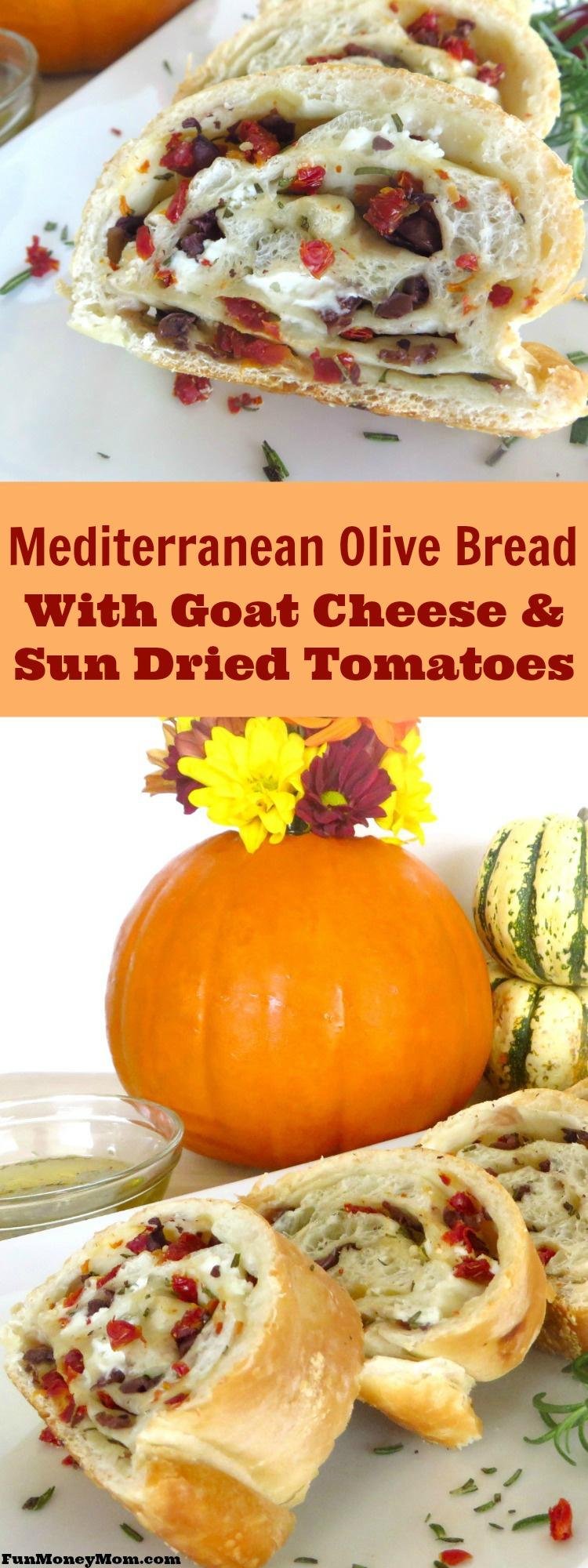 Mediterranean Olive Bread With Goat Cheese & Sun-dried ...