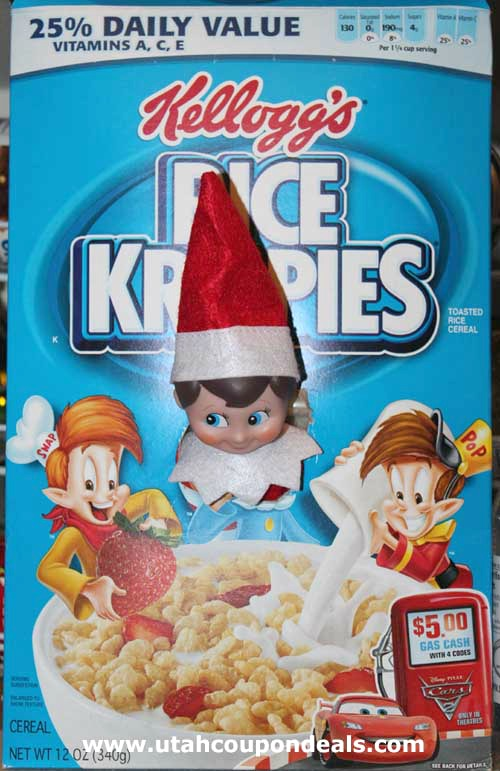 Elf On The Shelf Ideas - Cereal Elf