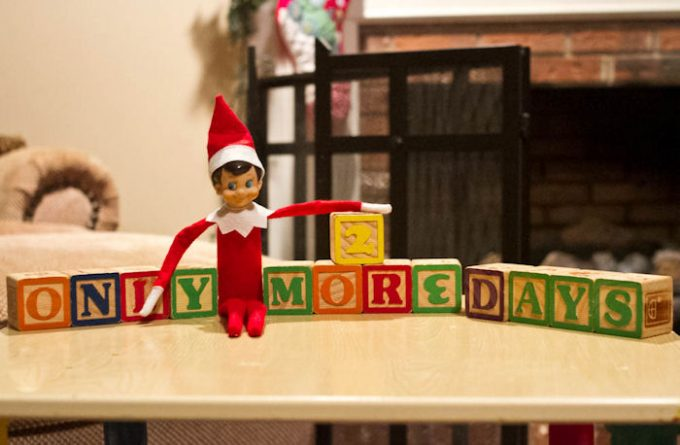Elf On The Shelf Ideas - Counting down