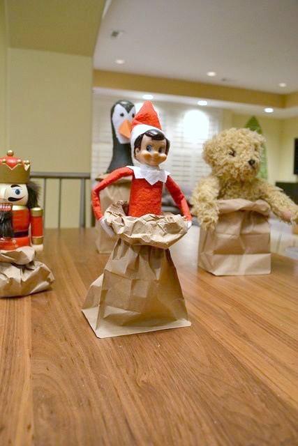 Elf On The Shelf Ideas - Sack Races