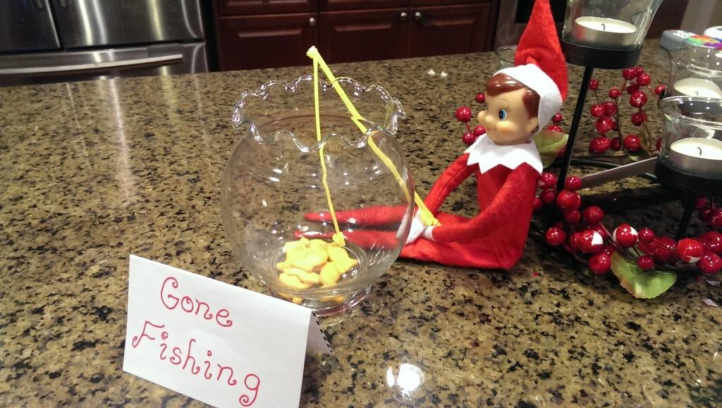 Elf On The Shelf Ideas - Gone Fishing