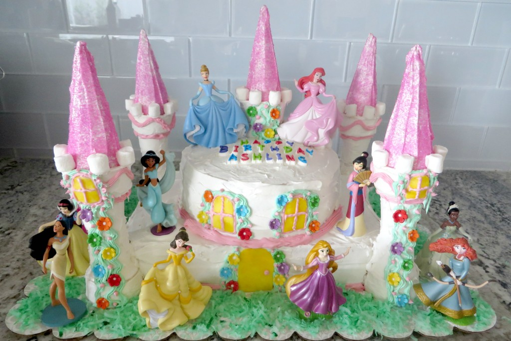 This easy castle cake is perfect for a Disney Princess birthday