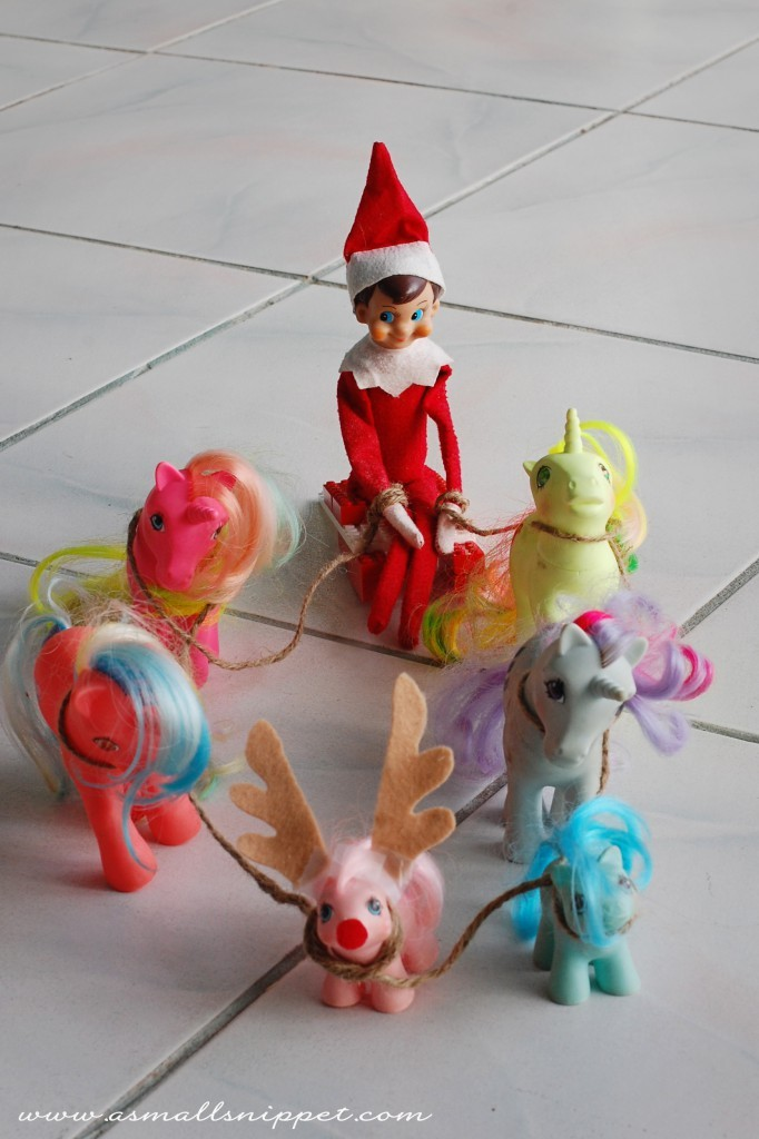 Elf On The Shelf Ideas - Pony Ride Elf