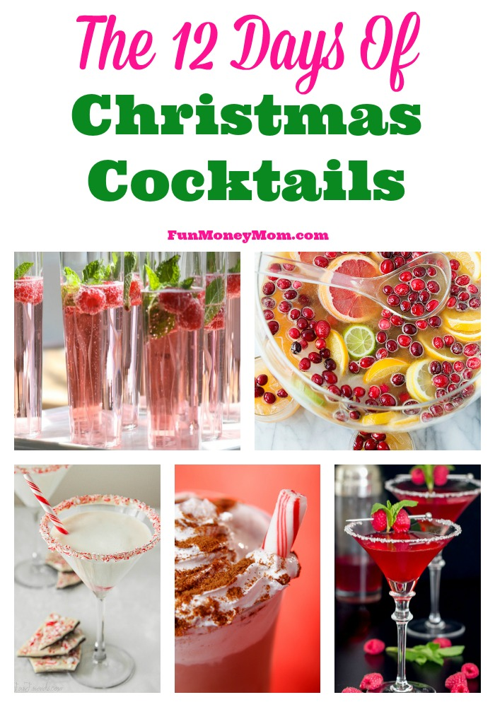 I don't know about you but I love to celebrate the holidays with a cocktail or two! Want to join me in the 12 days of Christmas cocktails?
