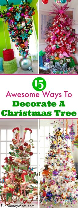 Getting ready to put up the Christmas decorations but want to try something new and maybe even a little over-the-top? Check out these creative ways to decorate a Christmas tree!