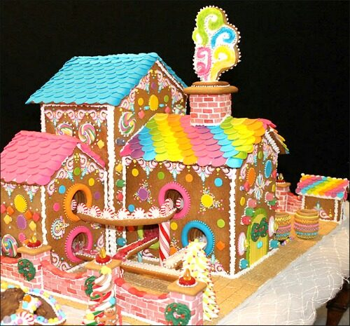 Gingerbread candy factory