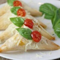 Spinach, Prosciutto & Mozzarella Triangles