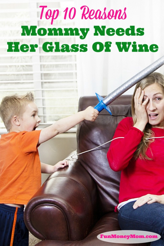 I totally believe the stats that there is a direct correlation between the number of children you have and the amount of wine you drink! Here's why mommy needs her glass of wine!