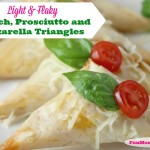 Light & Flaky Spinach, Prosciutto And Mozzarella Triangles