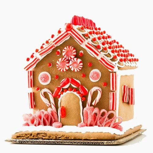 candy cane gingerbread house