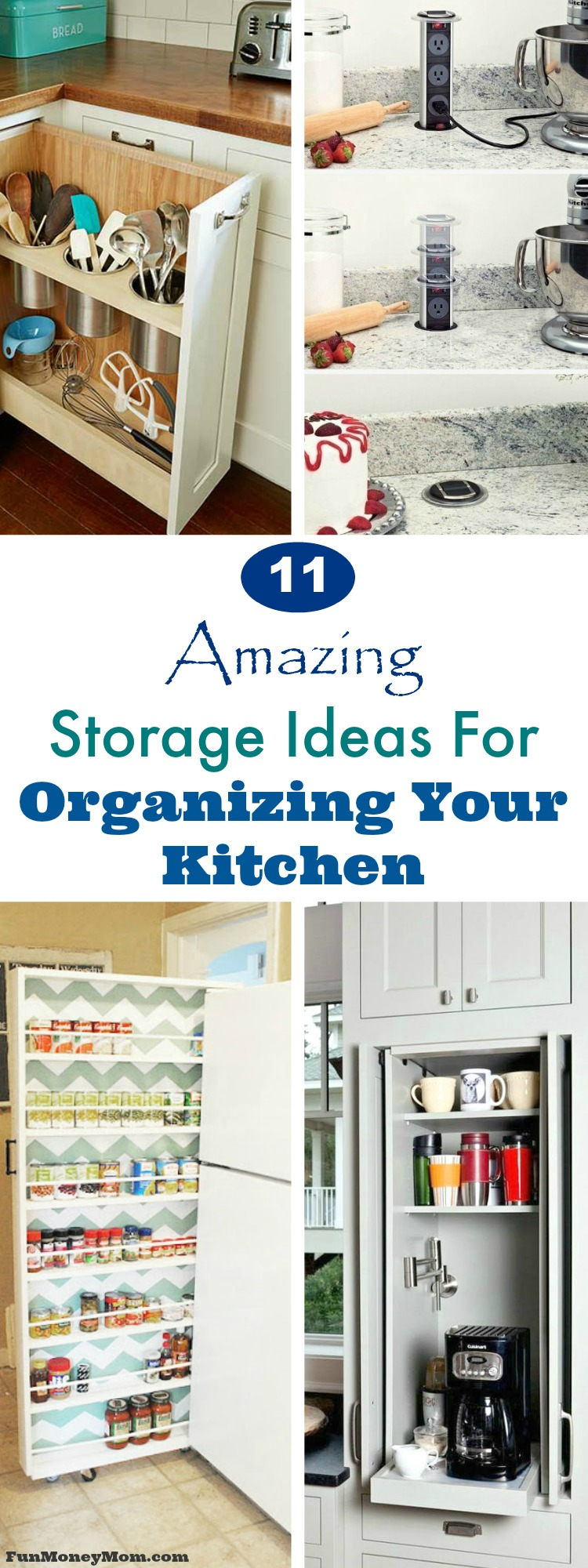 Kitchen Organization - These awesome ideas for kitchen renovations will blog your mind! From pantry organization to extra kitchen storage, you'll want to add every one! #kitchen #kitchenorganization #kitchenremovel #remodeling #renovation #kitchenremodel