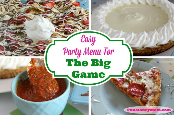 Easy Party Menu For The Big Game