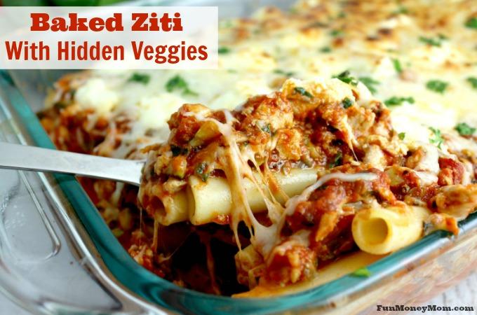 Baked Ziti With Hidden Veggies