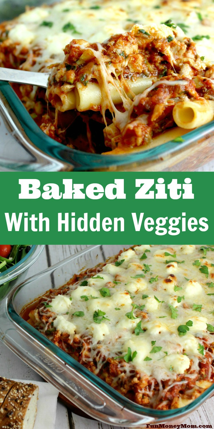 Having trouble getting your picky kids to eat their veggies? You can trick them with pasta dishes every time! Hide the veggies in this delicious baked ziti recipe and they'll never know the difference.