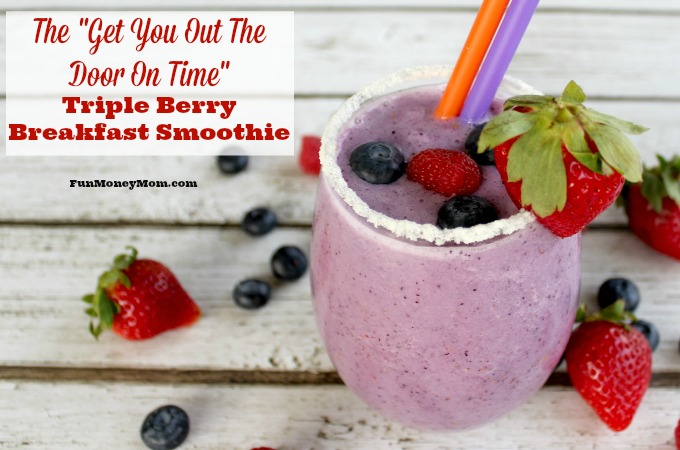 Triple Berry Breakfast Smoothie