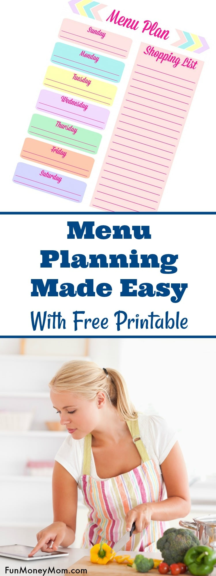 Menu planning can be easy if you do it right! Check out these great meal planning tips, download the free menu planning printable and you won't believe how easy dinner can be!