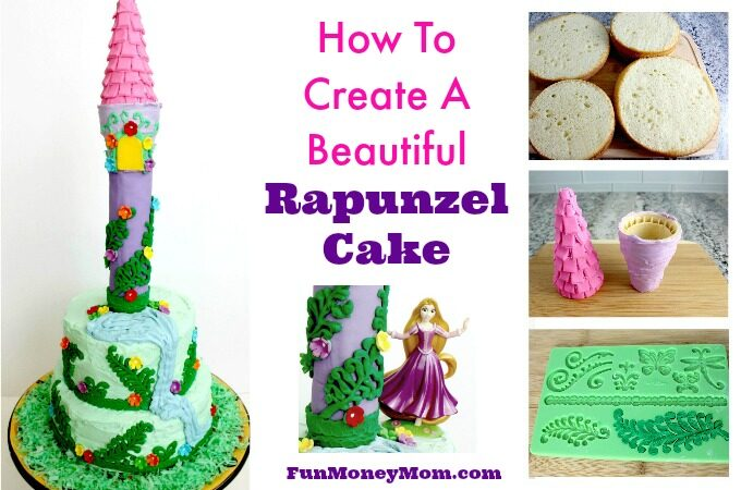 Rapunzel cake feature