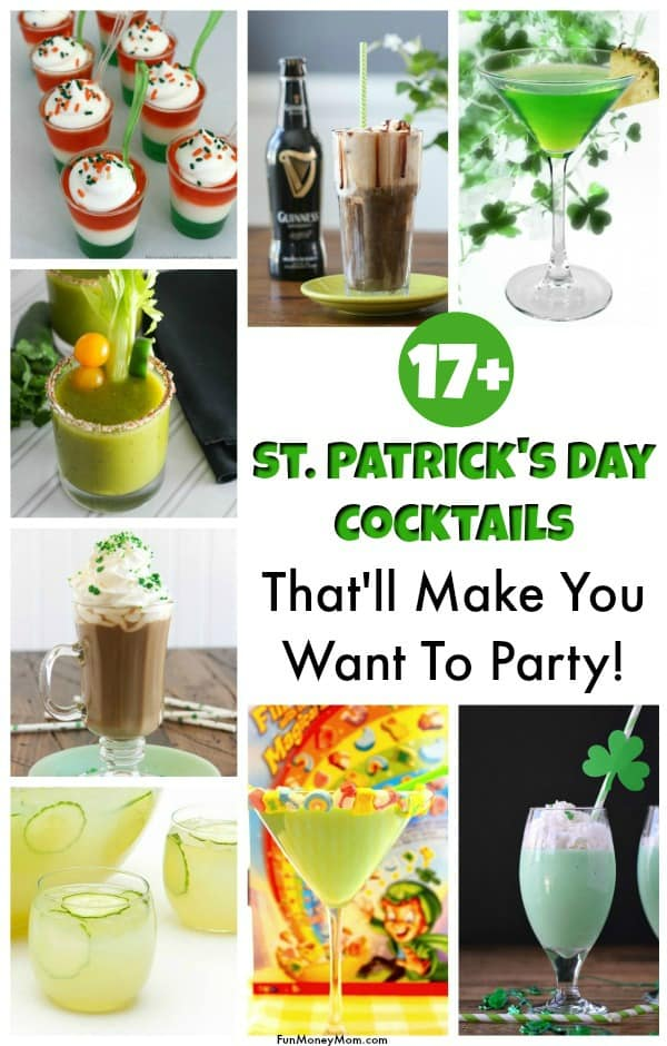 St. Patrick's Day Drinks - Looking for some fun St. Patrick's Day cocktails for your party? You'll love trading in the green beer for these party drinks! #Stpatricksday #stpatricksdaydrinks #stpatricksdaycocktails #partydrinks #cocktails