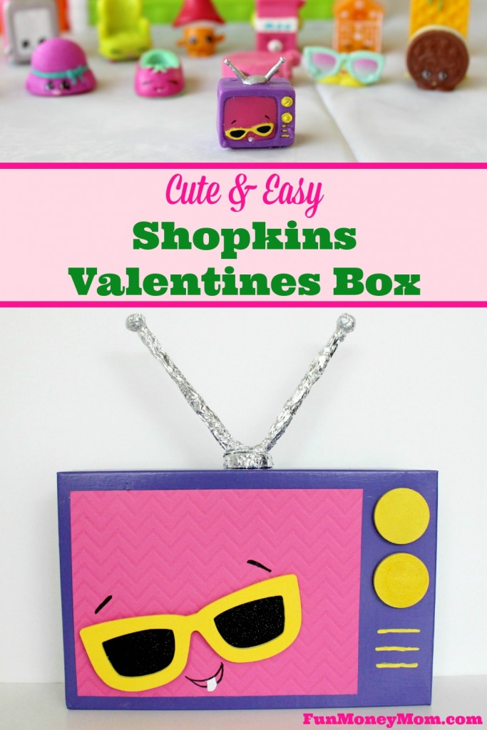 Do your little ones love Shopkins as much as mine do? If so, they're really going to love making this adorable Shopkins Valentines box!