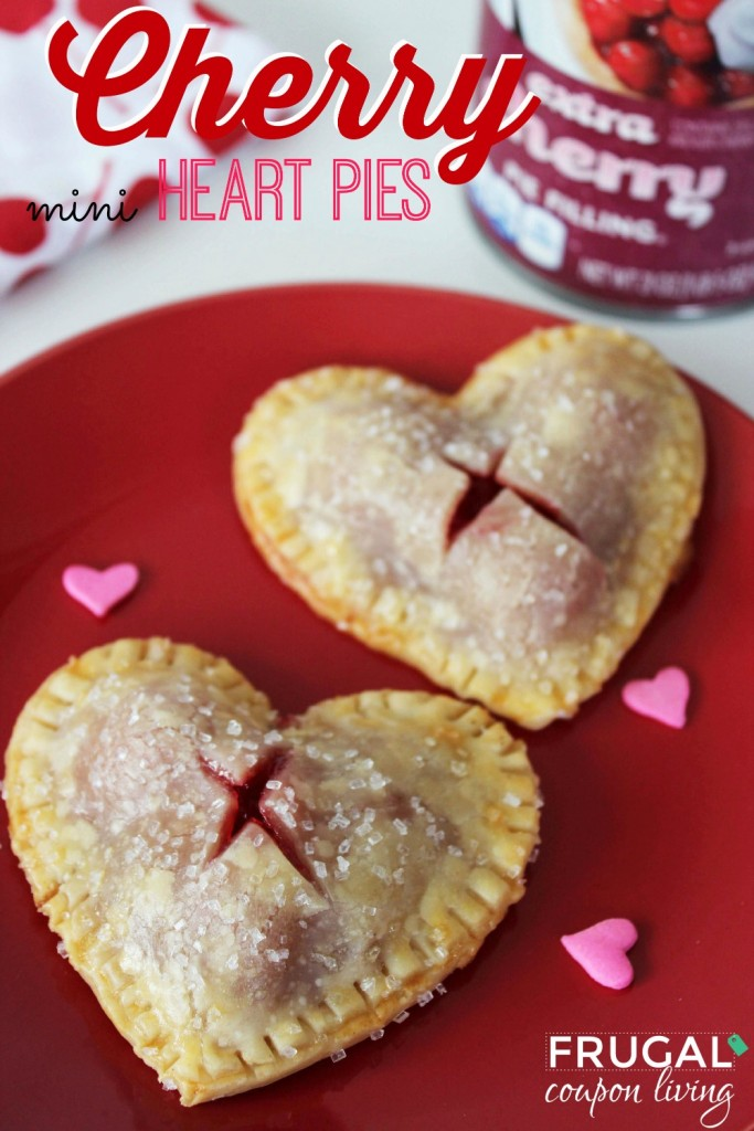 Cherry Heart Pie Valentine's Day Desserts