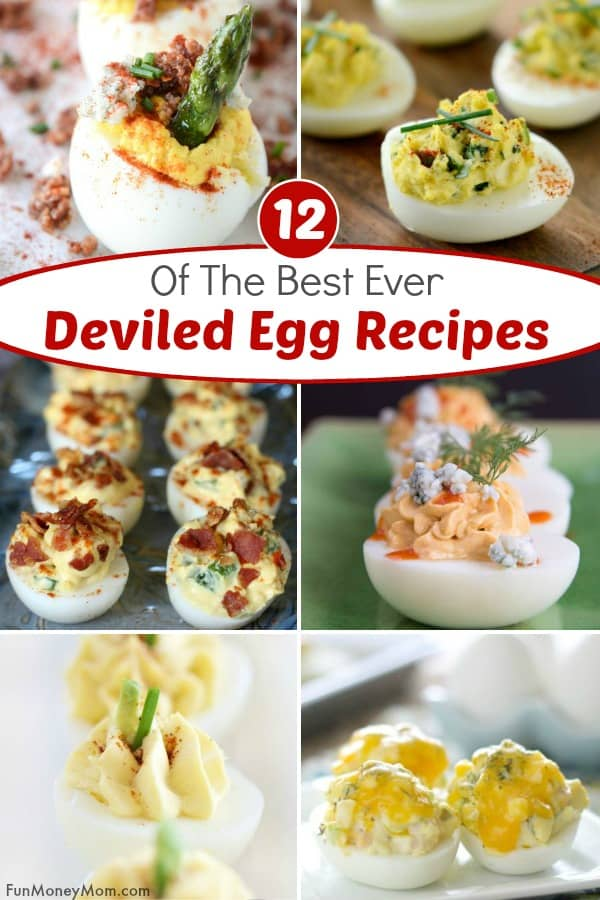 Deviled egg recipes - Making deviled eggs for a party? With ingredients like bacon, blue cheese, & avocados, these deviled egg recipes are nothing like the ones your Grandma's deviled egg recipe. This party food will be a hit at your next get-together! #deviledeggs #deviledeggrecipes #partyfood #bitesizefood #appetizers