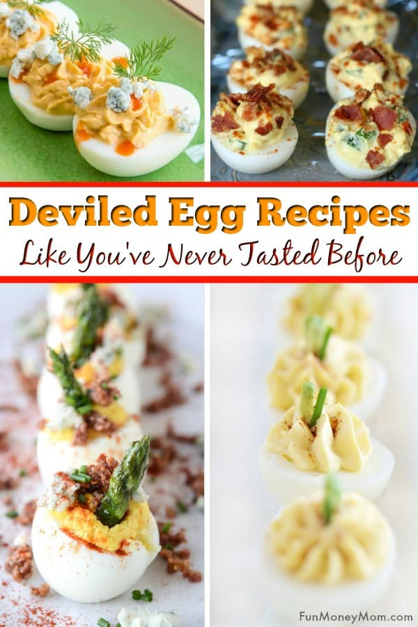 Deviled eggs - Need a deviled egg recipe for your party? With ingredients like bacon, blue cheese, & avocados, these deviled egg recipes are nothing like the ones your Grandma's deviled egg recipe. This party food will be a hit at your next get-together! #deviledeggs #deviledeggrecipes #partyfood #bitesizefood #appetizers