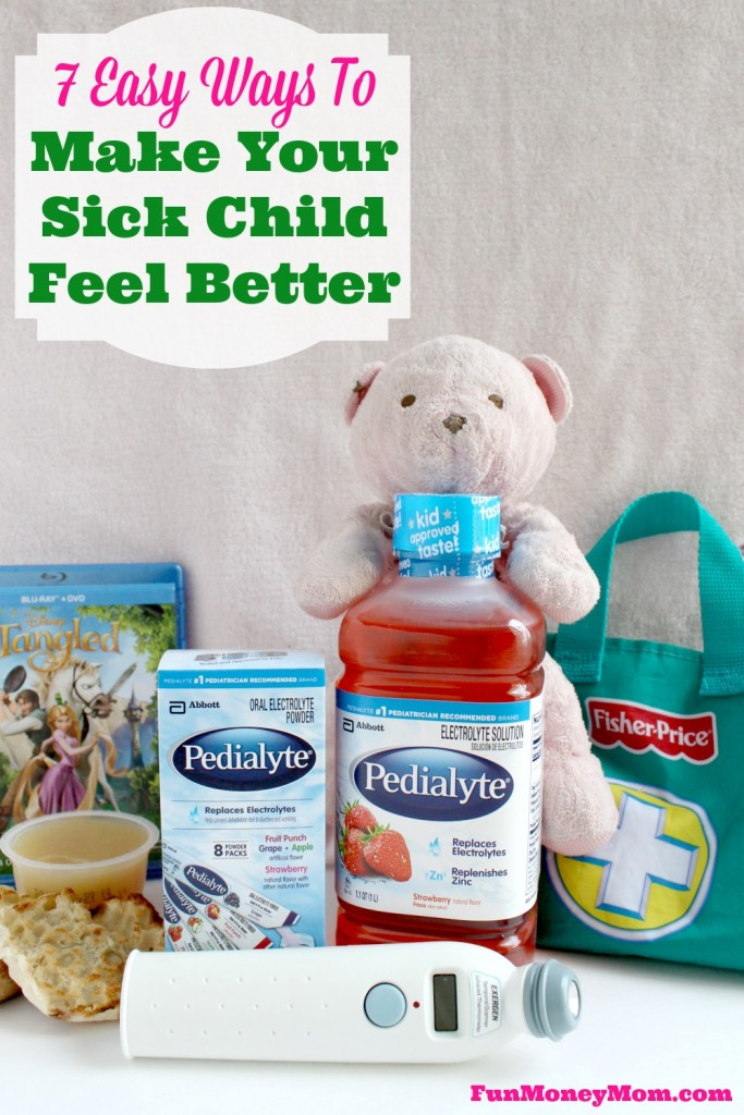 It's never fun when your little one is under the weather but here are some easy ways that you can make your sick child feel better.