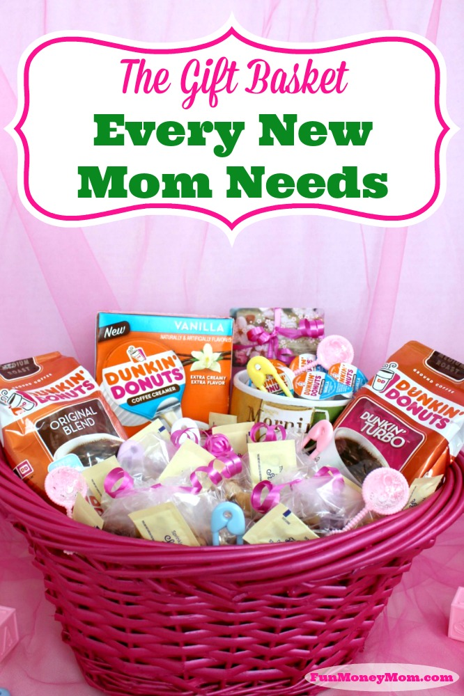 "Need the perfect gift for a new mom? Get her the gift she'll appreciate so much more than onesies or blankies...the ""New Mom Survival Kit""! ‪#‎ad ‬‪#‎DunkinCreamers"