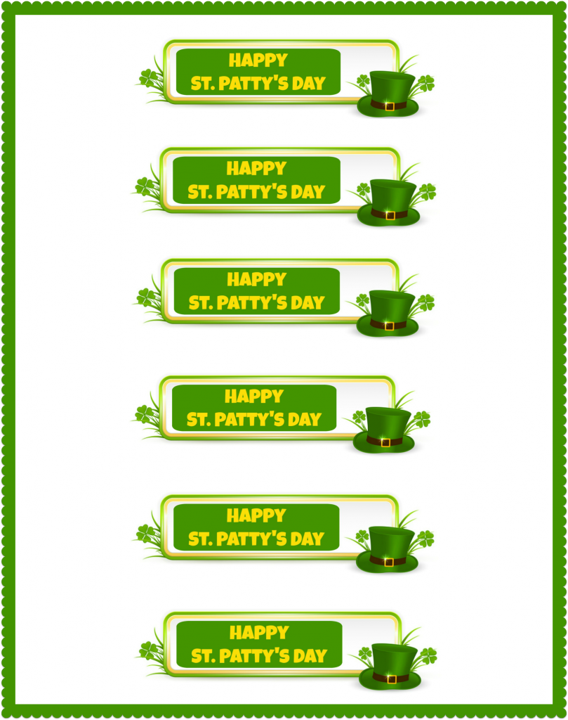 Happy St. Patty's Day printable